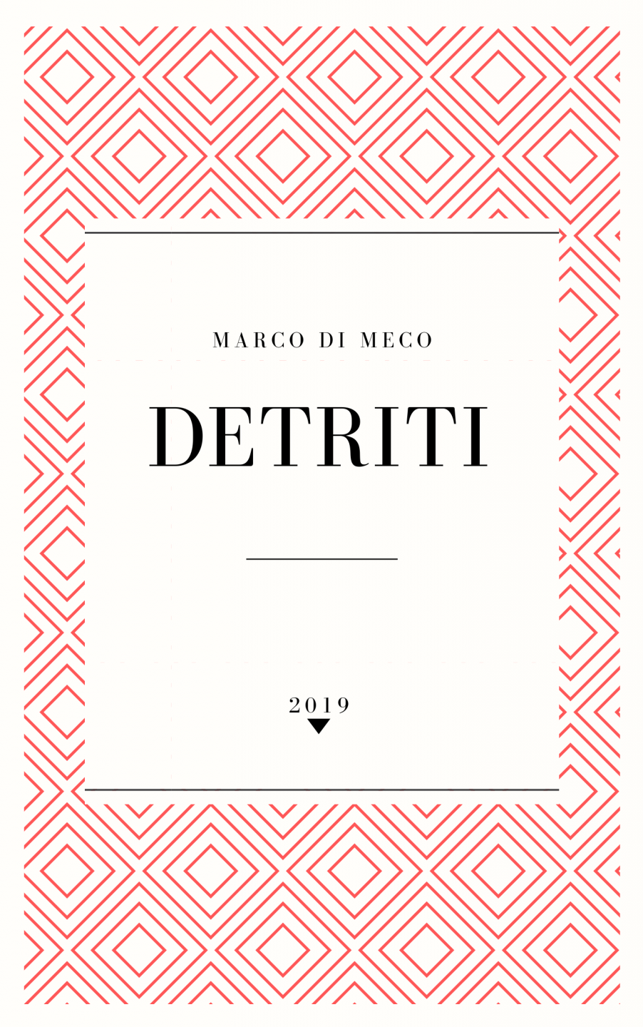 Cover DETRITI book by Marco Di Meco.